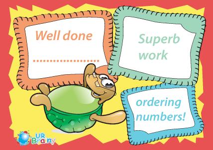 Preview of worksheet Superb Work Ordering Numbers