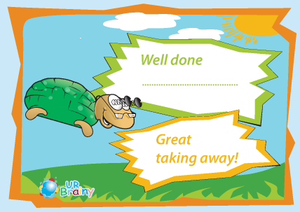 Preview of worksheet Well Done - Great Taking Away!