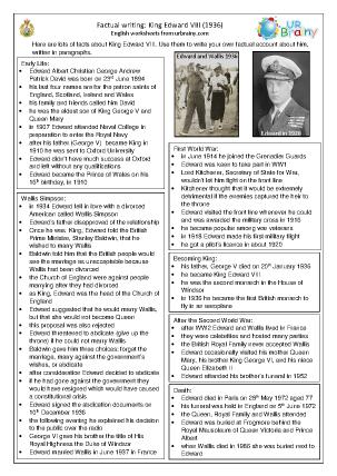 Edward VIII factsheet