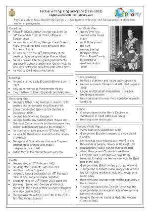 George VI factsheet