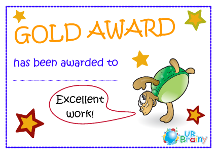 Preview of worksheet Gold Award