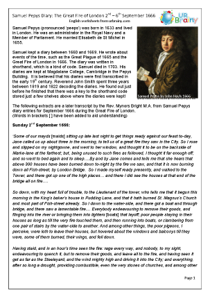 The diary of Samuel Pepys: the fire