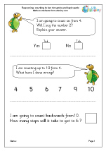 Reasoning Problem Solving Maths Worksheets For Year 1 Age