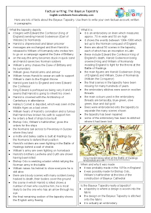 Preview of worksheet Factsheet: The Bayeux Tapestry