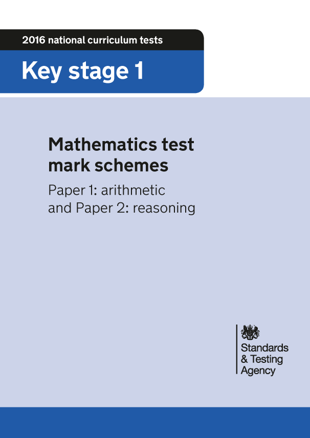 Preview of '2016 KS1 Mathematics Paper 1 and Paper 2 Mark Schemes'