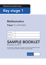 Sample KS1 Mathematics Paper 1 Arithmetic