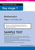 Sample KS1 Mathematics Paper1 Arithmetic Instructions