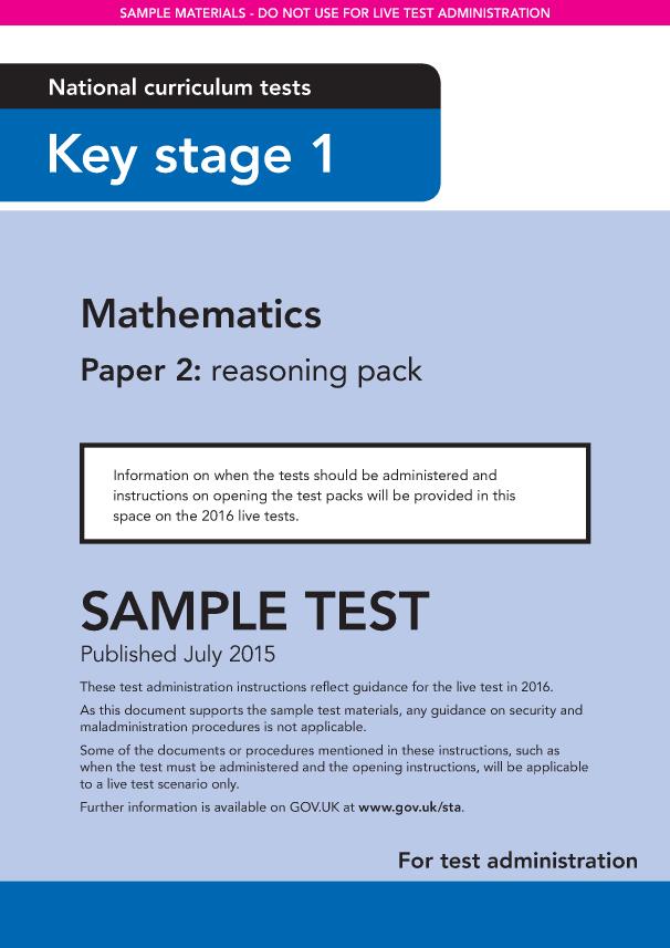 Preview of 'Sample KS1 Mathematics Paper 2 Reasoning Instructions'