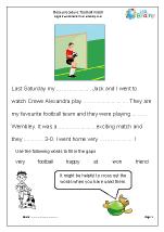 Cloze (easier) football match