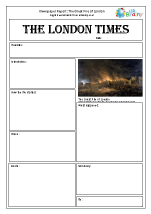 Newspaper report: The Great Fire of London