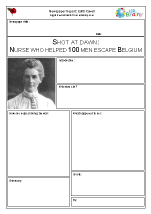 Newspaper report: WW1  Edith Cavell