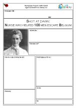 Newspaper report: WW1  Edith Cavell