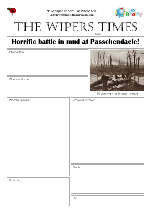 Newspaper report: WW1  Passchendaele