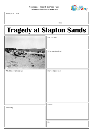 Preview of worksheet Newspaper report: WWII   Exercise Tiger