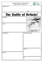 Newspaper report: WWII The Battle of Britain