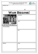 Newspaper report: World War II begins