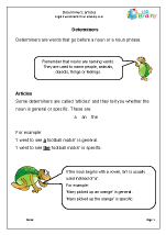 Determiners: articles