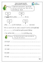 Verbs in the simple past tense (KS2)