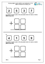 Missing digits: easier addition and subtraction (3C2)