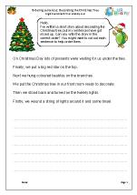 Christmas: ordering sentences