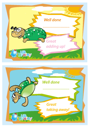 Preview of worksheet Add and Take Away Certificates