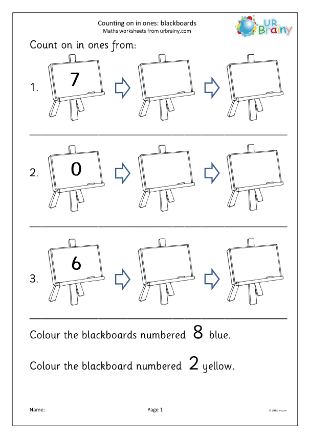 Preview of 'Count on in ones - blackboards'