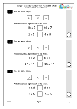 Compare and order numbers from 0 to 100 (2N2b)
