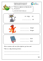 Writing adjectives to describe pictures 2 (KS1)