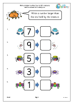 Write a larger number: creatures
