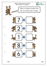 Write a smaller number: monkeys