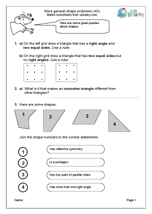 Preview of worksheet General shape (4G)