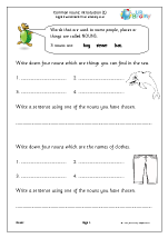 Common nouns: introduction 1 (KS1)