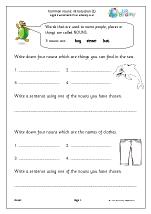 Common nouns: introduction 1 (KS1)