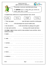 Abstract nouns (KS2)