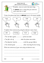 Abstract nouns (KS1)