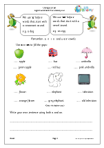 A or an with nouns (KS1)