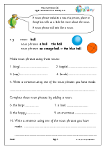 Simple noun phrases (KS1)