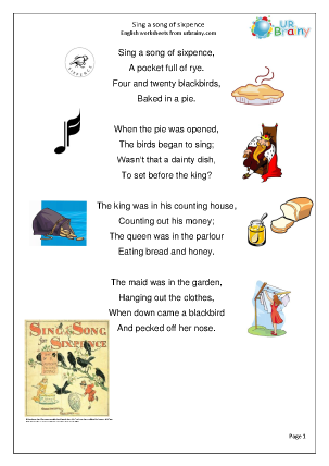 Sing a Song of Sixpence (Rec/KS1)