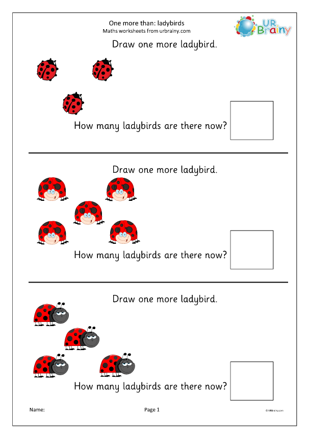 Preview of 'One more than - ladybirds'