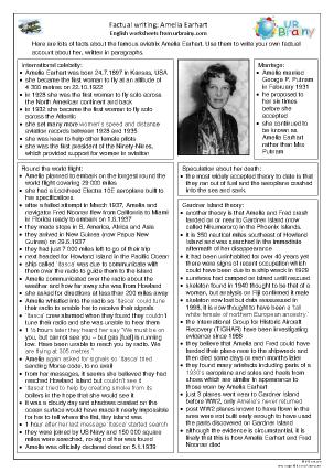 Preview of worksheet Amelia Earhart