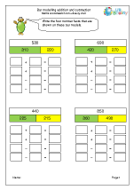 Bar Model: addition and subtraction facts