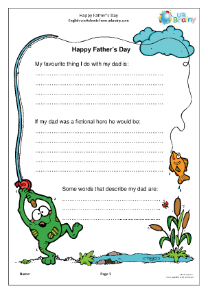 Preview of worksheet Happy Father's Day