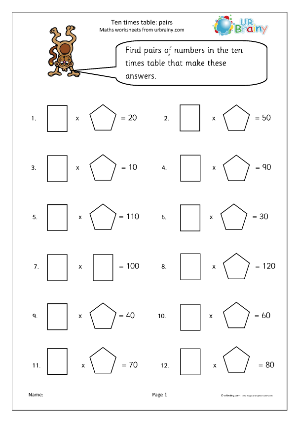 Preview of '10x table pairs'