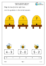 Using the subtraction sign - bees