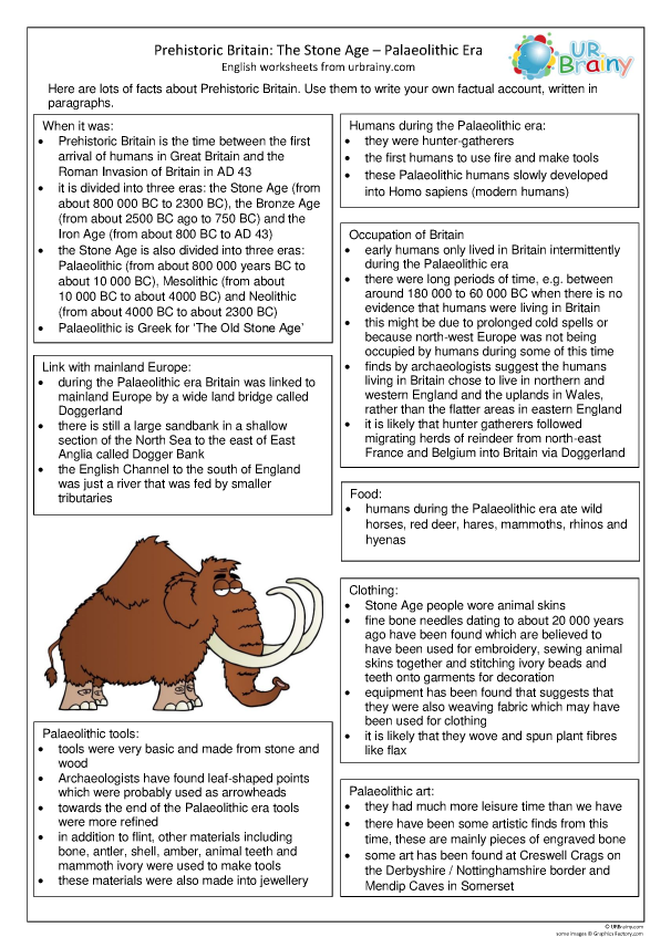 Preview of 'Palaeolithic Britain factsheet'