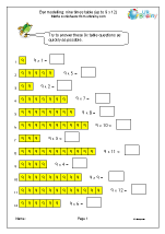 9x table (bar modelling)