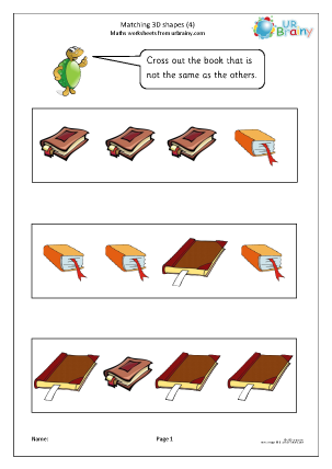 Preview of worksheet Matching 3D shapes (4)