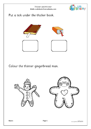Preview of worksheet Thicker and thinner (2)