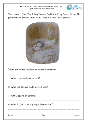 Preview of worksheet Jemima Puddle-duck (3)