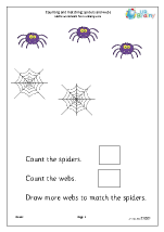 Count and match: spiders and webs